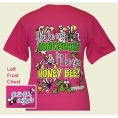 daa97921 Girlie Girl Originals Ladies Hot Pink Honey Bee T-Shirt Girly Girl Shirts,  Shirts