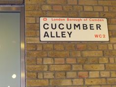 Cucumber Alley in the London Borough of Camden