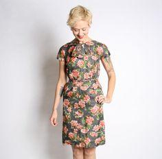 1950s Dress // Silver Linings Dress // vintage by dethrosevintage, $105.00