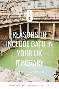8 reasons why you need to include Bath in your UK itinerary. Bath simply cannot be missed on a trip to the UK. On the fence? Read this to see why a trip to this gorgeous city is certainly worthwhile. Backpacking Europe, Europe Travel Guide, Travel Guides, Traveling Europe, Travelling, Europe Destinations, Portugal, Barcelona, Roadtrip