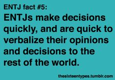 Myers-Briggs Personality Types • Posts Tagged 'entj'