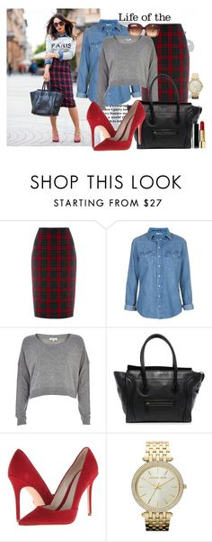 """""""Tartan"""" by luca155 ❤ liked on Polyvore featuring Oasis, Topshop, River Island, Elie Tahari, Michael Kors and Gucci"""