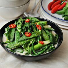 Thai Green Curry with Sugar Snaps, Asparagus & Broccolini