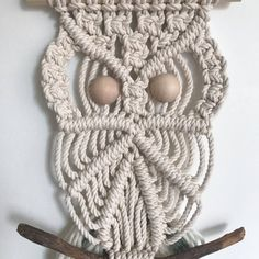 Best 12 Related image – mendy. Macrame Owl, Macrame Knots, Micro Macrame, Owl Patterns, Macrame Patterns, Crochet Patterns, Macrame Projects, Diy Craft Projects, Crafts