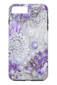 Contoured to fit the Apple iPhone 8 Plus, this Case-Mate case features a hard shell plastic exterior and shock absorbing liner to protect your device. Cell Phone Covers, Iphone 7 Plus Cases, Seductive Makeup, Hip Hop Bling, Purple Bouquets, Apple Iphone, Iphone 6, Monogram Initials, 6 Case