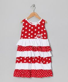 Red Polka Dot Ruffle Dress - Infant, Toddler & Girls