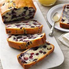Blueberry Quick Bread with Vanilla Sauce Recipe