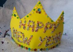 DIY New Year's crowns. I remember making something similar to this when was young <3
