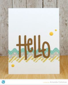 (image) Rick Rack Hello Card