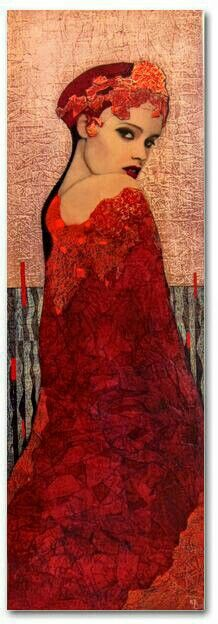 by artist Richard Burlet was born in France in He is influenced by Austrian symbolist painter Gustav Klimt and Art Nouveau. Gustav Klimt, Richard Burlet, Portrait Art, Medium Art, Figure Painting, Figurative Art, Mixed Media Art, Female Art, Lady In Red
