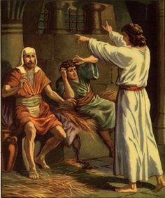 José do Egito interpretando o sonho dos colegas