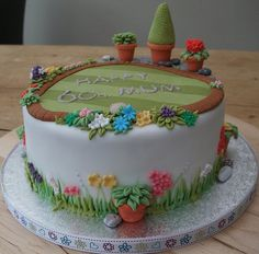 60th garden cake