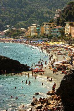 Monterosso al Mare beach, Italy