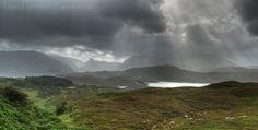 The Mountain Landscape Around Loch Ewe Highlands Scotland
