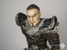 Sylvio - Dragon Hunter | sculpture in Fimo clay, painted by acrylic colours