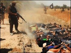 """ISIS Mass Execution of 1,500 Iraqis...G-R-A-P-H-I-C -- RARE Video Surfaces of ISIS Murdering 1,500 Iraqi Citizens (Video) Absolutely Despicable! THIS give all the so-called """"peaceful Muslims"""" a bad name. Why aren't Muslims around the world denouncing this form of barbarism. ISIS and radical Islam is a CANCER to our world -- and MUST BE STOPPED!!!"""
