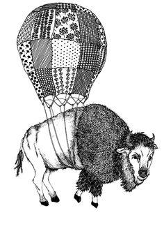 Buffalo Ink Pattern by Margaret Kimball.