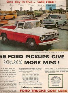 59 Ford Styleside pickup vintage ad