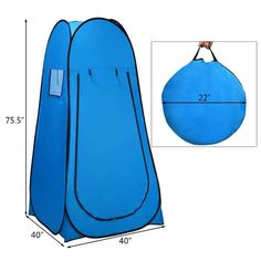 Shop Costway Portable Pop up Camping Fishing Bathing Shower Toilet Changing - Overstock - 29919609 Truck Camping, Tent Camping, Camping Gear, Diy Camping, Outdoor Camping, Tent Room, Teardrop Camping, Lightweight Tent, Dogs