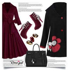 """Rosegal  46"" by mell-2405 ❤ liked on Polyvore featuring Yves Saint Laurent and vintage"