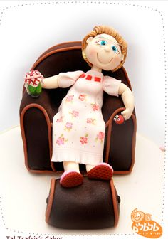Grandmother cake topper