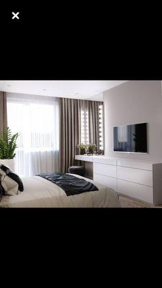 Master Bedroom Interior, Bedroom Bed Design, Room Ideas Bedroom, Modern Bedroom Design, Bedroom Layouts, Home Decor Bedroom, Hotel Room Design, Home Office Design, Home Interior Design