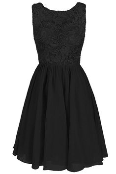 Dresstore Women's Lace Bridesmaid Formal Short Homecoming Dress Black US 2