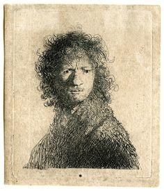 Rembrandt - zelfportret (fronsend) 1632-1652