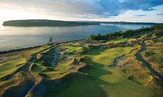 Chambers Bay is a public golf course, and a park with a challenging 5 km running/walking loop.