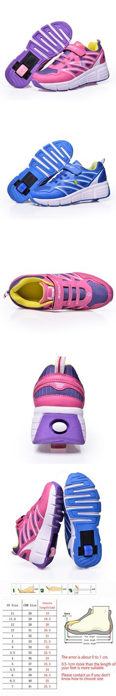 Kids Shoes with Wheels for Boy Wheelys Girl Sneakers with Wheels Zapatillas Con Ruedas Roller Skate Shoes for Kid Shoes Schoenen