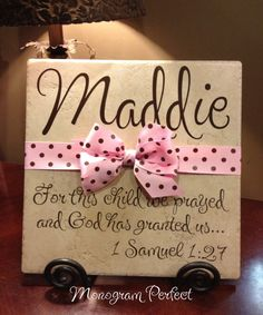 Personalized Adoption Gift or Baby Shower by MonogramPerfect, $29.99
