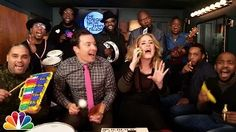"The Tonight Show Starring Jimmy Fallon Adele joins Jimmy and The Roots in the Tonight Show Music Room to perform ""Hello"" with classroom instruments. - YouTube"