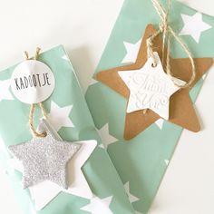 cadeaulabels klei inpakken - In the house handmade