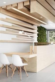 Place name: Sara Burea Dental Clinic. Company: Susanna Cots Design Studio. Why we like it: Organic materials used in a visually powerful way