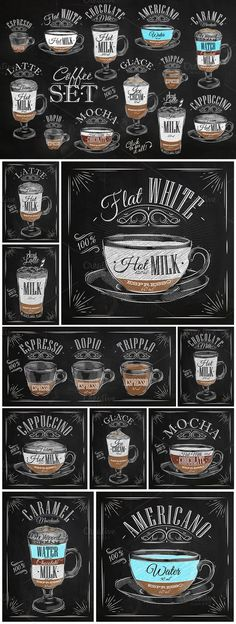 Different Types of Coffee ... #Coffee #Barista #CoffeeArt #BaristaArt