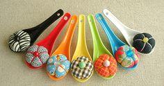 spoonful of sugar pincushions by Venus@suburbia-soup, via Flickr