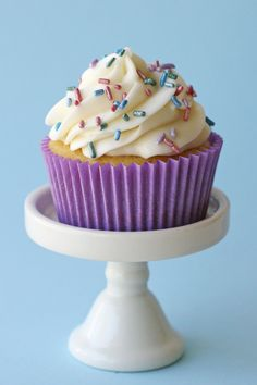 Simply the BEST vanilla cupcake recipe! Delicious, did increase sugar to 1 cup, also all purpose flour works great for this recipe too!