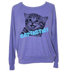 Cattastic Women's Sweat Purple, 27,50€, now featured on Fab.