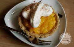 Mango-Tartelette mit Zimt-Sahne, milchfrei, eifrei, weizenfrei, vegan