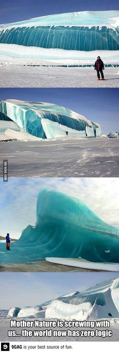 How the hell did a tsunami freeze?