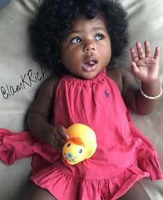 This is so crazy she looks, like me when i was a baby, all that hair, and her face lol Black Baby Girls, Cute Black Babies, Beautiful Black Babies, Brown Babies, Cute Little Baby, Pretty Baby, Cute Baby Girl, Beautiful Children, Little Babies