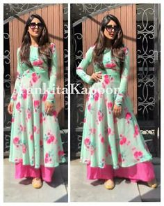 Designer Dresses - Maxi Party & More - Women Designer Kurtis, Designer Punjabi Suits, Indian Designer Wear, Stylish Dress Designs, Designs For Dresses, Stylish Dresses, Kurti Neck Designs, Kurta Designs Women, Long Kurta Designs