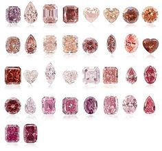 """aperfumedpearl:  """"all colours of pink diamonds  """""""