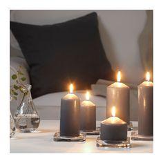 VINTER 2016 Unscented block candle, set of 5  - IKEA