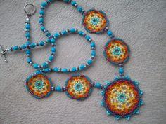 Beadwork Necklace Seed Beaded Jewelry by RaptorRidgeOriginals, $38.00