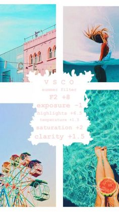 Discover recipes, home ideas, style inspiration and other ideas to try. Vsco Filters Summer, Best Vsco Filters, Free Vsco Filters, Photography Filters, Photography Editing, Vsco Filter Bright, Fotografia Vsco, Vsco Themes, Filters For Pictures