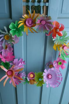 Upcycled Flower Wreath