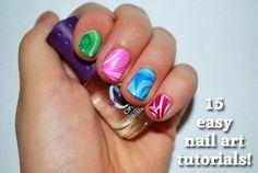 15 easy nail art tutorials