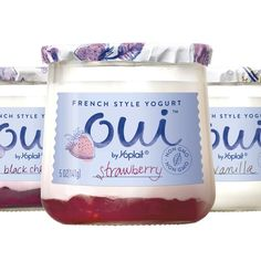 Yoplait Launches French-Style Yogurt Called 'Oui' Arguably the best tasting new yogurt Reusable glass containers Love it!!!