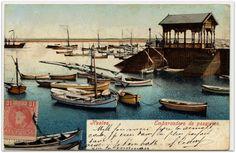 Postales de Huelva : Embarcadero de pasajeros en el Puerto de Huelva